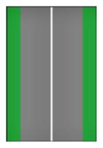 Linha branca contínua