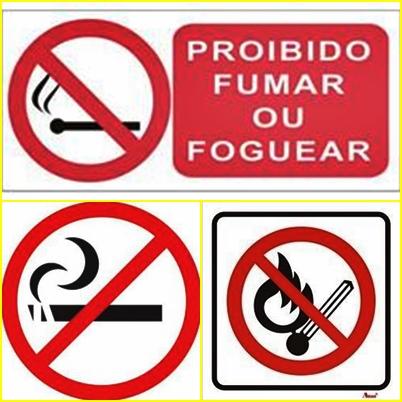 Proibido fumar ou foguear na Placa