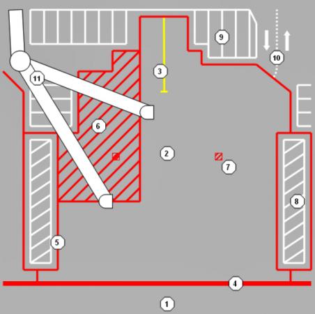 Zona de assistência à aeronave - Stand