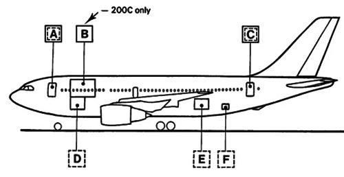A310 portas de acesso à aeronave