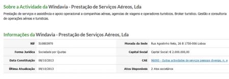 Windavia serviços aéreos