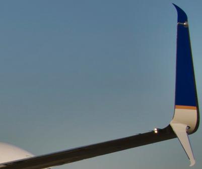 Boeing com as novas aletas swinglet split scimitar