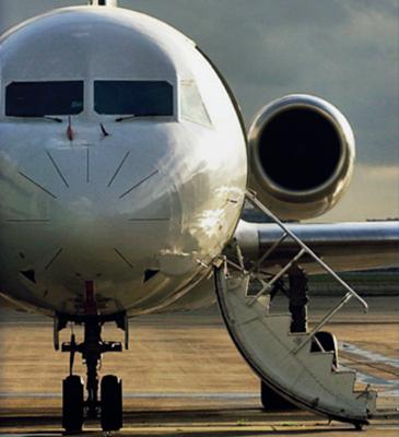Fokker porta embarque passageiros