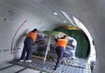 Descarregamento de carga aerea