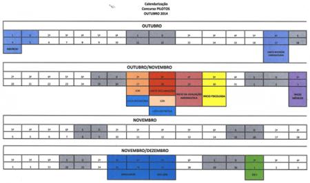 TAP - Calendario para formaçõa de Pilotos