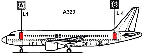 A320 porta acesso passageiros e tripulação