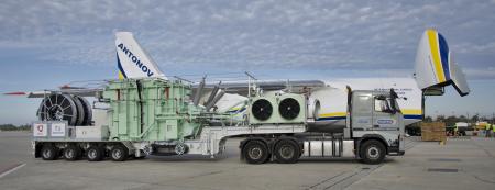 Sub estaçao móvel da Efacec e Antonov 124