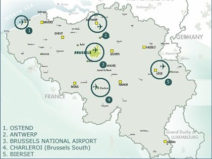 Espaco aéreo belga Belgocontrol