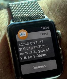 Aplicação da SITA com o Apple watch